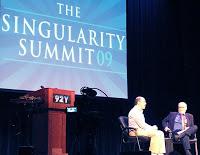 Stephen Wolfram (left) and Gregory Benford