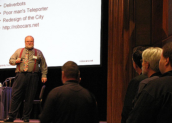 Brad Templeton takes questions at the 2009 Singularity Summit in New York City