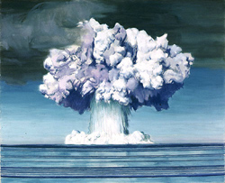 Painting by Charles Bittinger of an atomic test at Bikini Atoll; courtesy U.S. Navy