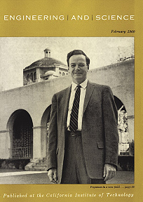 Richard Feynman, seen here on the cover of the February 1960 issue of 'Engineering and Science,' in which his 1959 talk 'There's Plenty of Room at the Bottom' was first published.