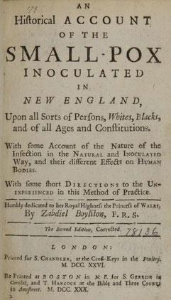 Boylston's book on inoculation